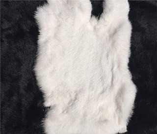 1pcs Natural Tanned Rabbit Fur Hide (11