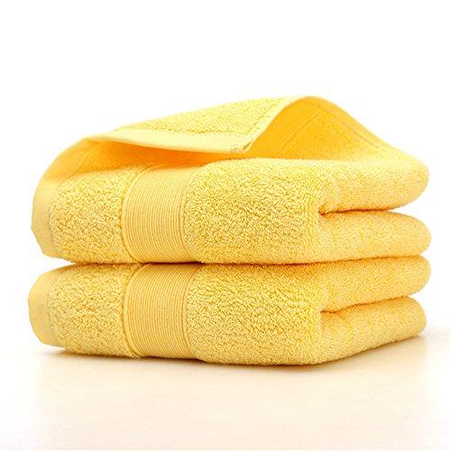 Juego de toallas amarillas de baño 100% algodón