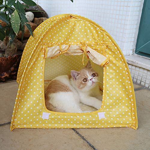 Romsion eenvoudige stippen patroon anti-muggen vouwen tent voor huisdier hond katten Nest