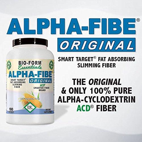 Alpha-Fibe Original Alpha Cyclodextrin Smart Target Weight Loss Fat Blocker for Men & Women (90 Fast-Acting Capsules)