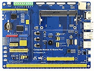 WaveShare EN Genuine Compute Module IO Board Plus Development Composite Breakout Board for Developing with Raspberry Pi CM3 CM3L Various Common Use Components Supports Arduino Shields