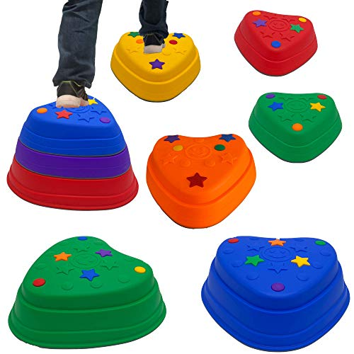 IMAGYM Stackable Stepping Stones for Kids, Balance Stepping Stones - Coordination and Stability, Perfect Indoor and Outdoor Play Equipment for Kids, Toys Toddler Obstacle Course Ages 3 and up