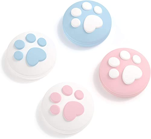 GeekShare 4PCS Silicone Cat Paw Joy Con Thumb Grip Set Joystick Caps for Switch and Switch Lite Thumb Stick Grips (Pi...