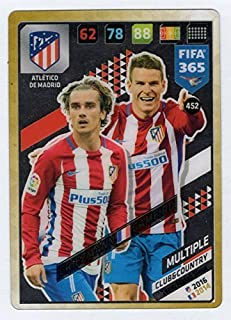 FIFA 365 2018 ATLETICO MADRID CLUB & COUNTRY MULTIPLE CARD FEATURING GRIEZMANN & GAMEIRO, PANINI ADRENAYLN XL