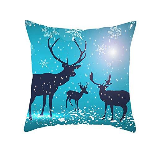 Amody Fundas de Cojines Navidad, Funda de Cojines 40x40cm Nieve Cada Fundas Cojines Jardin Exterior Azul Estilo 16