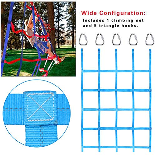 Climbing Cargo Net for Ninja Obstacle Course Kids Backyard Training Equipment Sturdy Impact Resistant Stair Protection Net Obstacle Courses