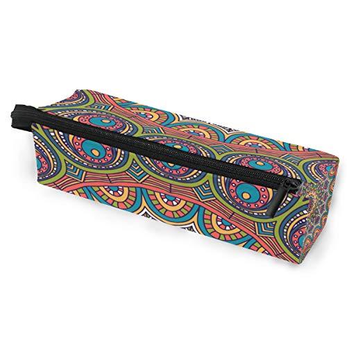 Crayon Sac Stylo Etui Poche Floral Mandala Tribal Boho Art Maquillage Lunettes De Soleil Cosmétiques pour Filles Garçons École De Voyage