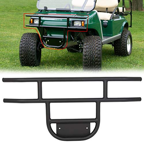 KUAFU Front Golf Cart Brush Guard Tubular Bumper Fits 1981 and Up Club Car DS Gas and Electric Models Black