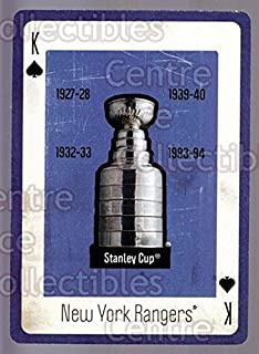 (CI) Stanley Cup Hockey Card 2005 New York Rangers Legends Playing Card 13 Stanley Cup