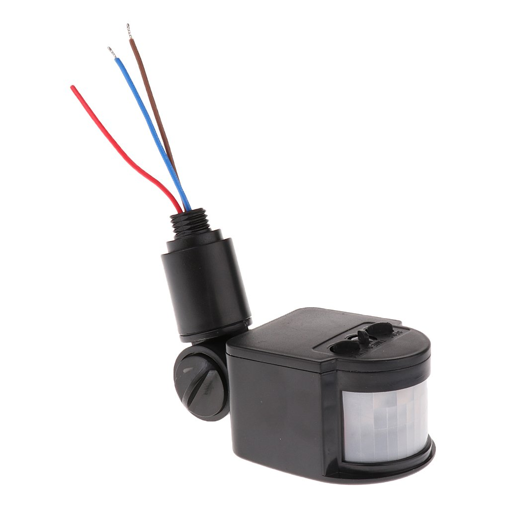 12m PIR Detector Sensor de Movimiento Por Infrarrojos Luz LED Al Aire Libre RF AC85V~265V BLK: Amazon.es: Bricolaje y herramientas