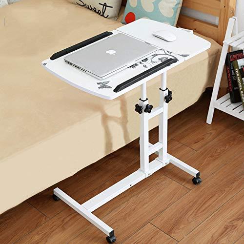 PSSYXT Escritorio de computadora Mesa para computadora Mesa de Escritorio portátil Ajustable y Mesa de Cama portátil Mesa de Trabajo elevada con Teclado, 1