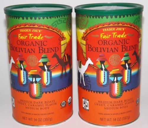 Trader Joe's Organic Bolivian Blend 100% Arabica Whole Bean Coffee (Medium Dark Roast)
