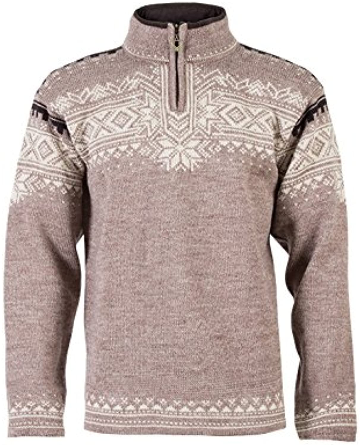 (Small, Beige  Beige  Mountainstone Sand Lava Mel)  Dale of Norway  Anniversary Men's Sweater