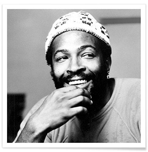 """JUNIQE® Jazz Musiker Poster 50x50cm - Design """"Marvin Gaye"""" entworfen von Vintage Photography Archive"""