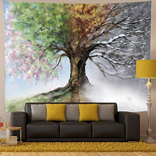 QCWN Ethnic Tree of Life Tapestry Colorful Forest Tree Tapestry Hippie Bohemian Tapestry Psychedelic Nature Wall Hanging Tapestry for Bedroom Living Room Dorm(Tree of Life, 78Wx59L)