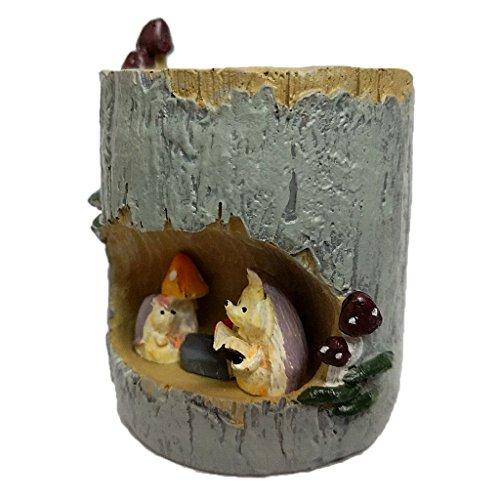 Mini Paysage de Minuature en Résine Fleur Sedum Pot Succulente Lit Planteur Bonsaï Boîte de Plante - Hérisson