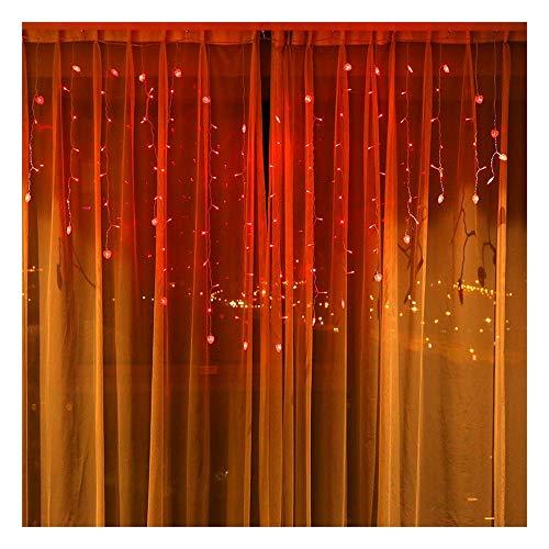 Jsmhh 3MX3M 300LEDs LED-Vorhang-Licht, Fenster-Vorhang Eiszapfenlichter Schnur-feenhafte Lichter for Weihnachten Hochzeit Start Schlafzimmer Beleuchtung Dekoration, Memory-Funktion (Color : A)