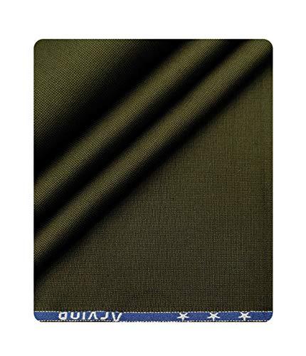 Arvind Men's Cotton 1.30 M Unstitched Trouser Fabric Structured (Dark Green, Free Size)