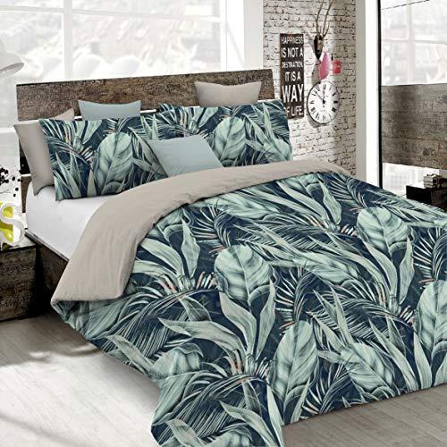 Italian Bed Linen Juego de Funda nórdica Fashion, Tropical, 1 Plaza
