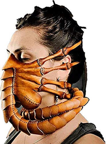 K99 Halloween Scorpion Mask,Cosmask Facehugger Mask Alien Covenant Claws Insect Xenomorph Hugger Costume Face Worm Latex Mask,Upgrade Model