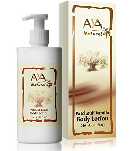 All Natural Body Lotion Skin Hydrator - Vegan Hydrating Firming Cream Moisturizer for Women and Men's Dry Itchy Skin (Patchouli Vanilla)