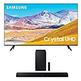 SAMSUNG 75-inch Class Crystal UHD TU-8000 Series - 4K UHD HDR Smart TV with Alexa Built-in + HW-T550 2.1ch Soundbar with Dolby Audio/DTS Virtual:X (2020)