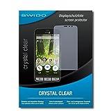 SWIDO Bildschirmschutz für Doro Liberto 825 [4 Stück] Kristall-Klar, Hoher Festigkeitgrad, Schutz vor Öl, Staub & Kratzer/Schutzfolie, Bildschirmschutzfolie, Panzerglas Folie