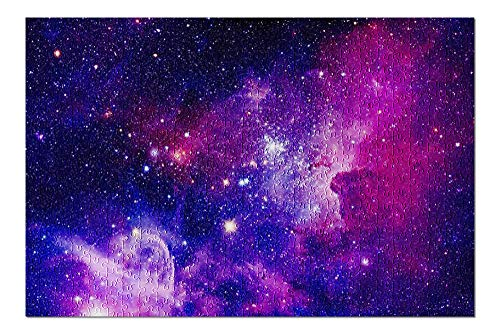Pink & Purple Galaxy with Stars 9028316 (Premium 500 Piece Jigsaw Puzzle for Adults, 13x19, Made in USA!)