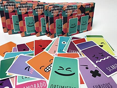 Toys For Kids Juego de Memoria de Emociones Español/Ingles
