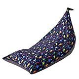 Stuffed Animal Storage Bean Bag Chair, Toy Storage Bag, Large Stuffed Toys Organizer with Zipper for Boys and Girls, Bean Bag Chair for Kids and Adults, Only Cover Bag