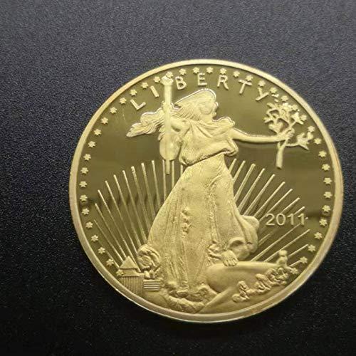 Heqing American Liberty Diosa de la Libertad Medalla Monedas conmemorativas chapadas en Oro Moneda de Recuerdo Nacional Mejor Regalo s