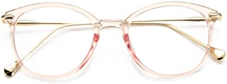 COASION شیشه عینک دور شیشه ای بدون عینک قاب زنانه برای مردان