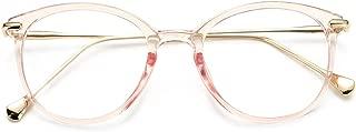 Vintage Round Clear Glasses Non-Prescription Eyeglasses Frames for Women Men