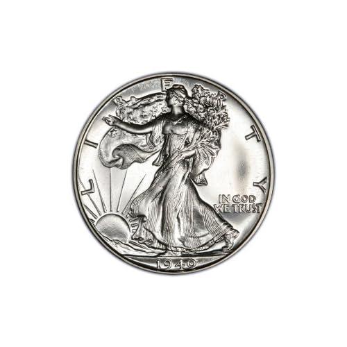 FIVE 5 Uncirculated Walking Liberty Half Dollars 90/% Silver Christmas Gift
