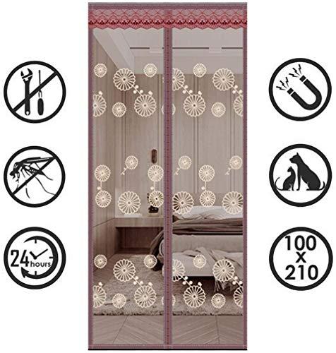 Anti-muggen magnetische zachte hordeur, duurzaam gaasgordijn Anti-muggen magnetisch klittenband deurgordijn, zomer Ventilatie Wegblijven van muggen Insecten