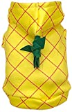 WORDERFUL Dog Halloween Pineapple Costume Pet Cosplay Clothing Puppy Funny Outerwear for Party French Bulldog Festive Hooded Clothes Cats Adorable Yellow Habiliment (XXS)