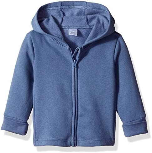 Hanes unisex baby Ultimate Zippin Fleece Hoodie Hooded Sweatshirt Dark Blue 6 12 Months US product image