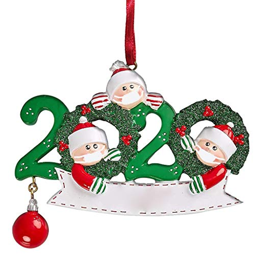 poedkl Personalized Survived Family of Ornament 2020 Christmas Holiday Decorations