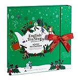 English Tea Shop - Teebuch Adventskalender 'Teebuch Grün', 25 Boxen mit BIO-Tees in hochwertigen Pyramiden-Teebeuteln