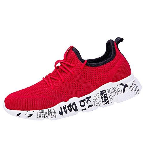 VECDY Herren Schuhe,Weihnachten Geschenke- Herbst Neue Männer Casual Stretch Sneakers Outdoor Reisen Schuhe Brief Flache Schuhes Laufschuhe Wanderschuhe Rot Blau schwarz Grau 39-46