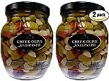 Tassos Double Stuffed Jalapeno-garlic Super Mammoth Greek Olives, 35.27 Oz ( 2 JARS )...