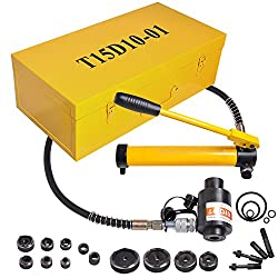 cheap Driver set for 15 ton hydraulic knockout hammer drill, 1/2-4 inch tool, 10 dice with holes 11 14 Calibration tool …