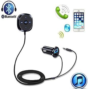 EinCar Bluetoothカーキット、5V / 2.1AのUSB車の充電器とワイヤレス音楽ストリーミングやハンズフリー通話用レシーバ、3.5ミリメートル補助ジャック&磁気マウント、無料2イン1雷とマイクロUSBケーブル