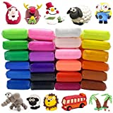 Modeling Clay 24 Color Modeling Clay Fluffy Slime, BESTZY DIY Soft Magic Clay Craft Air Dry Plasticine Ultra-light Modeling Dough with Tools, Children Educational Toys & DIY Gifts