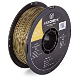 HATCHBOX 3D Printer Filament, Dimensional Accuracy +/- 0.03 mm, 1 kg Spool, 1.75 mm, Bronze