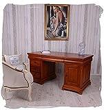 Chefschreibtisch Mahagoni Desk Massivholz Schreibtisch Computertisch Bürotisch mar023 Palazzo Exklusiv