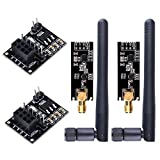 WayinTop 2pcs NRF24L01+PA+LNA RF Transceiver Module with SMA Antenna 2.4 GHz 1100m + 2pcs NRF24L01 Wireless Module with Breakout Adapter On-Board 3.3V Regulator for Arduino