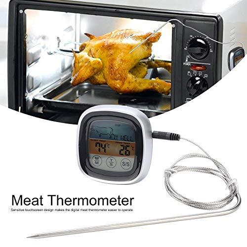 Termometro per carne Ampio touchscreen digitale Cottura Termometro per alimenti Lettura chiara Termometri a microonde per cucina BBQ Grill