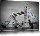 legendäre Tower Bridge schwarz/weiß auf Leinwand, XXL