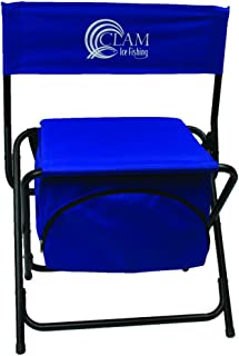 Clam 8823 Folding Chair with Cooler Storage Compartment, Blue